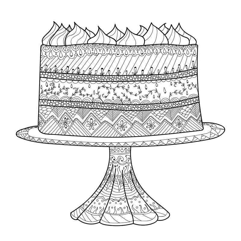 彩图的蛋糕 库存例证
