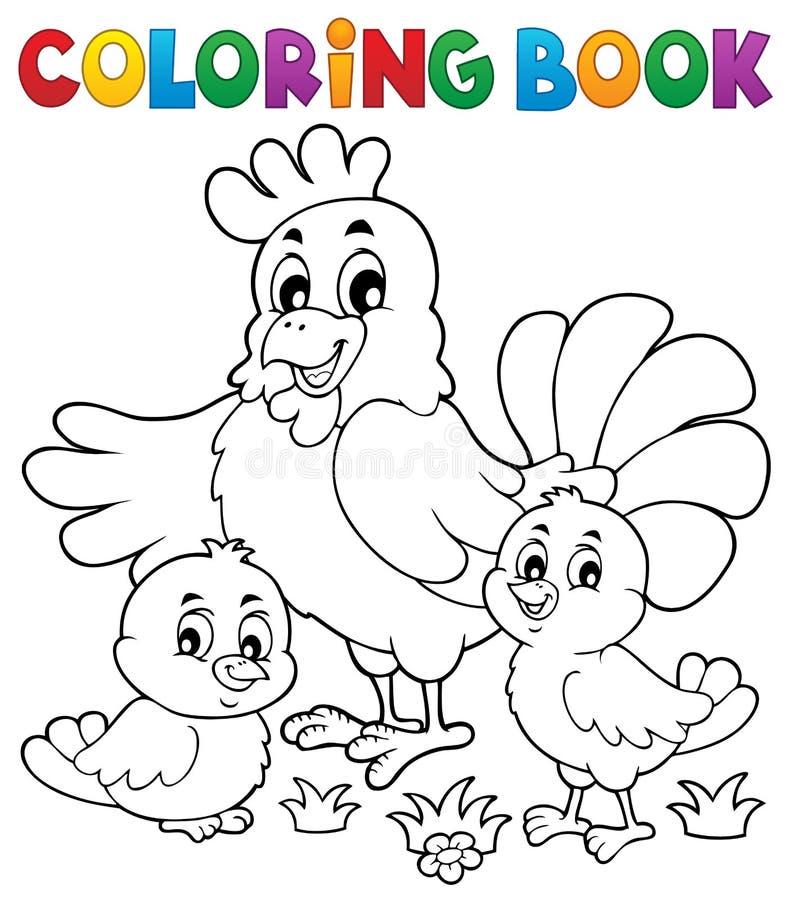 彩图鸡和母鸡题材1 库存例证