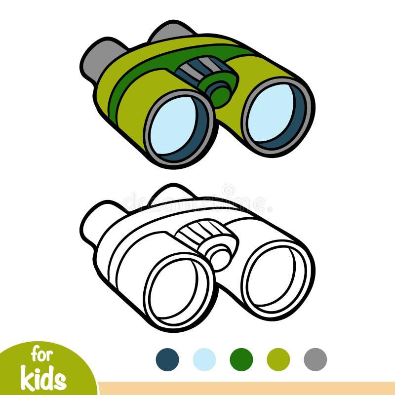 彩图,双筒望远镜 库存例证