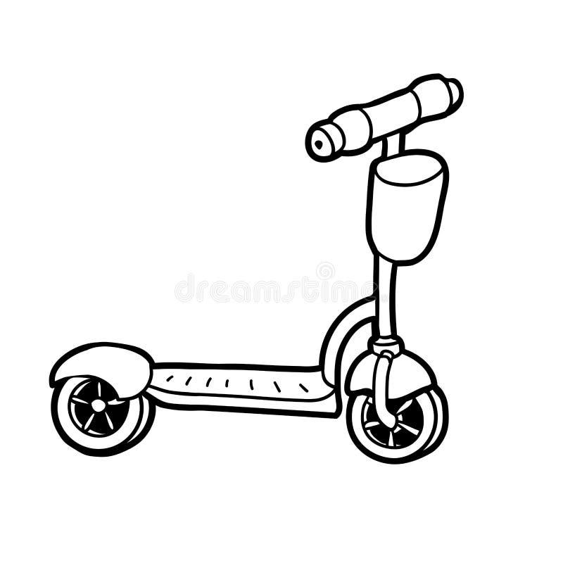 彩图,反撞力滑行车 向量例证
