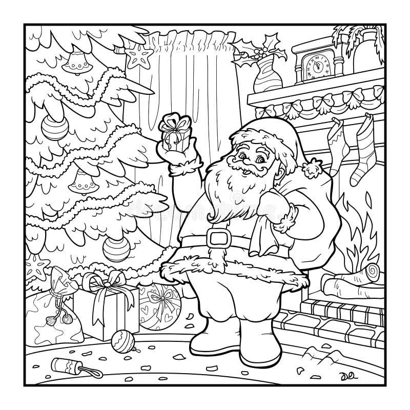彩图,圣诞老人 皇族释放例证