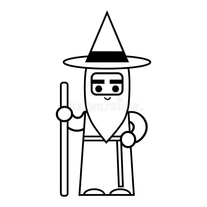 彩图,巫术师 向量例证