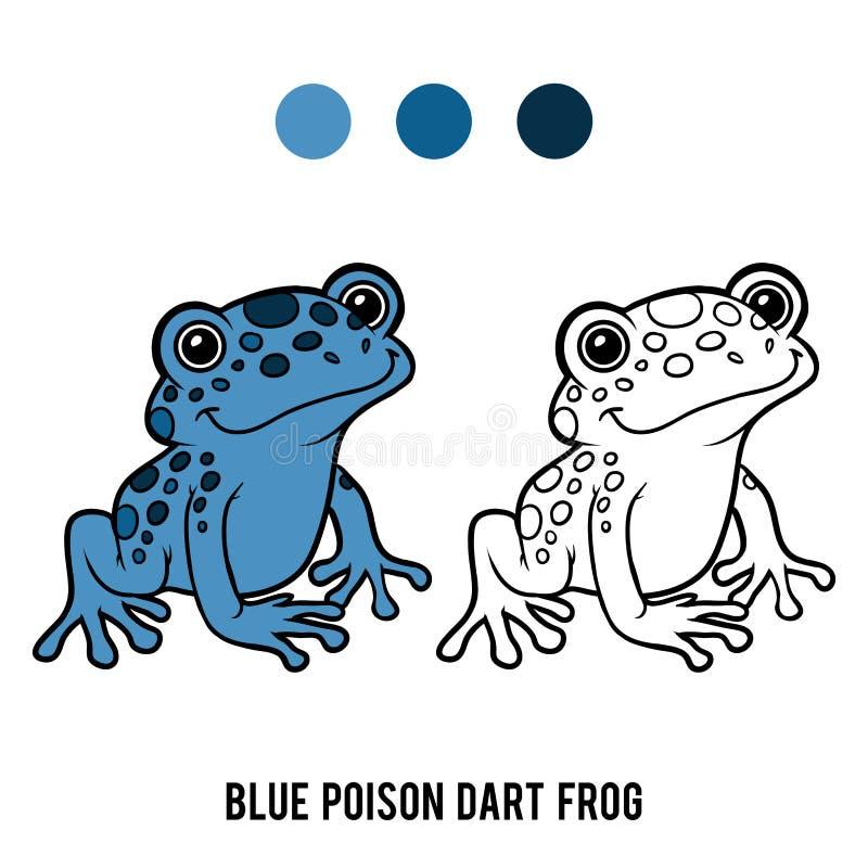 彩图,蓝色毒物箭青蛙 皇族释放例证