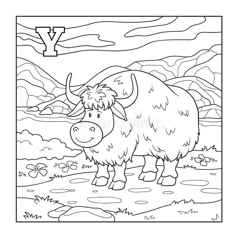 彩图(牦牛),无色的例证(信件Y) 皇族释放例证