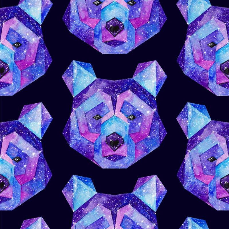 水彩宇宙动物 象查找的画笔活性炭被画的现有量例证以图例解释者做柔和的淡色彩对传统 免版税库存图片
