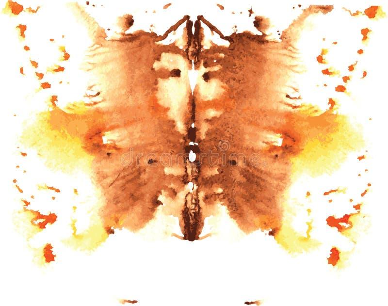 水彩对称Rorschach污点 皇族释放例证