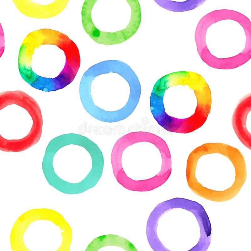 水彩彩虹圆环 皇族释放例证