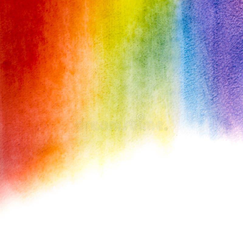 水彩彩虹背景 图库摄影