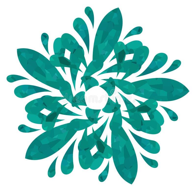 水彩样式-抽象花 免版税库存照片
