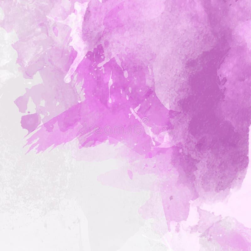 水彩油漆冲程背景 向量例证