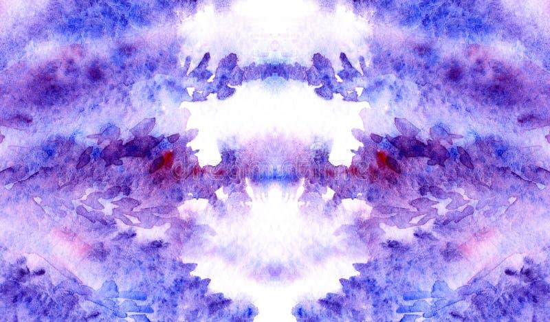 水彩淡紫色紫罗兰色紫色绯红色花卉背景纹理 向量例证