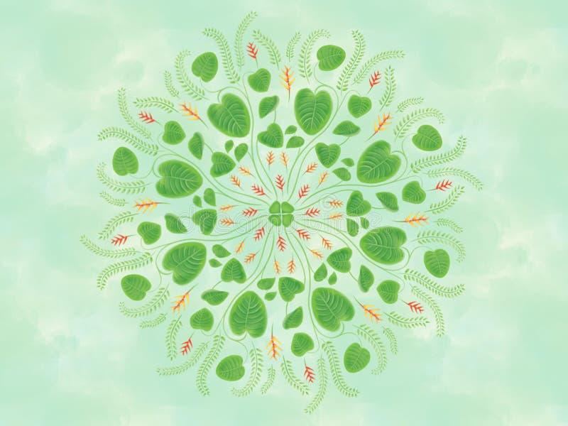 水彩热带Heliconia花花卉坛场绘画例证 库存例证