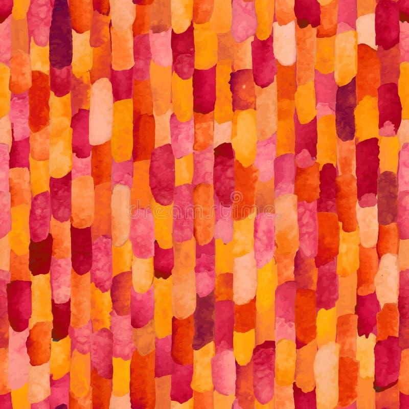 水彩砖 抽象模式无缝的向量 库存例证