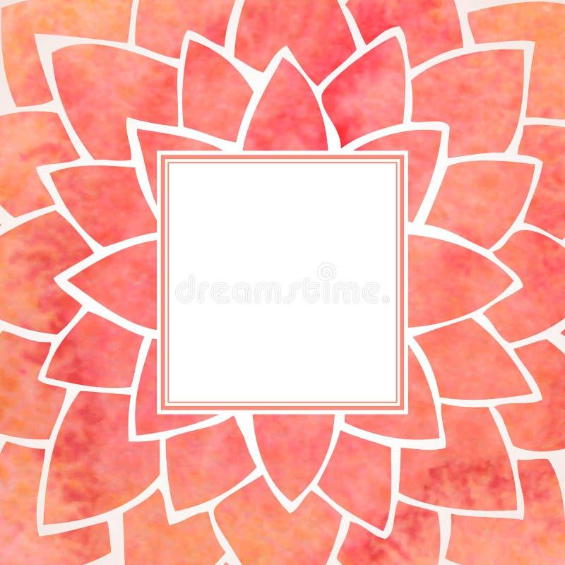 水彩红色花框架 也corel凹道例证向量 向量例证