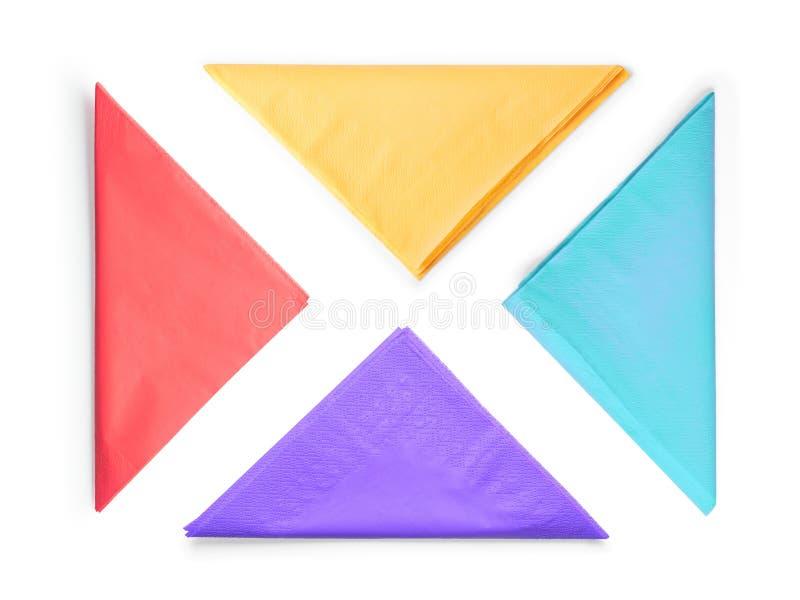 彩纸纸巾设置了隔绝与裁减路线 库存图片