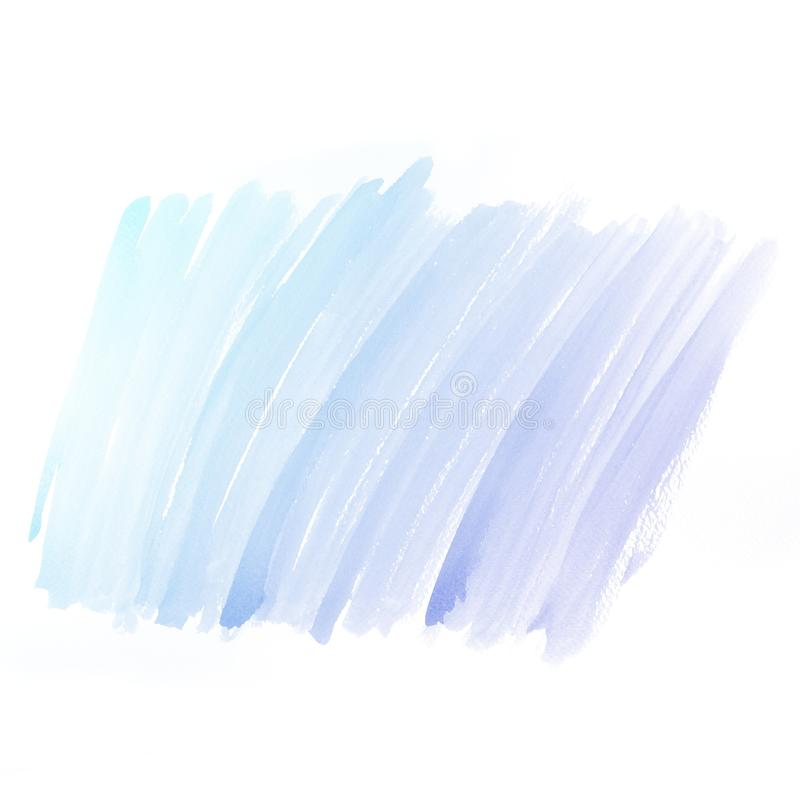 水彩背景。五颜六色的大海颜色油漆 免版税库存照片