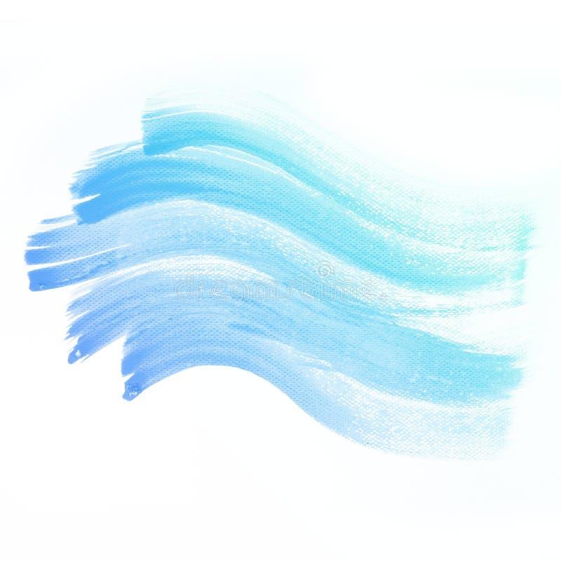 水彩背景。五颜六色的蓝色抽象水彩 库存例证