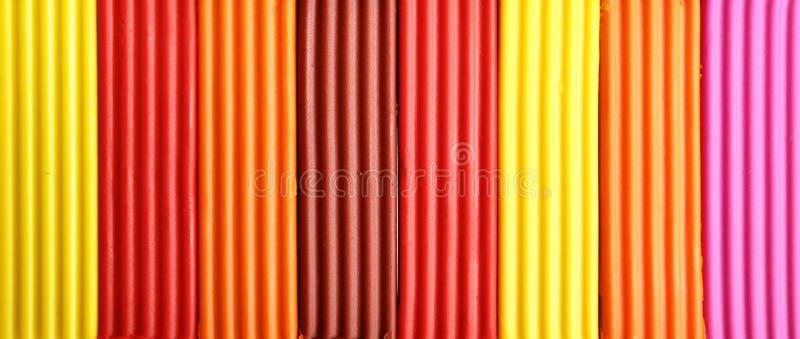 彩色塑泥 库存照片