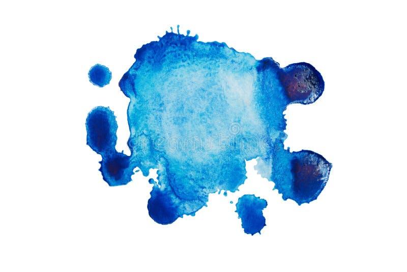 彩色水彩斑点 水上背景,墙纸 免版税库存图片