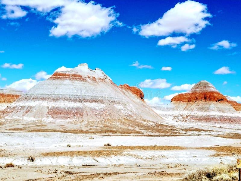 彩色沙漠亚利桑那 免版税库存照片
