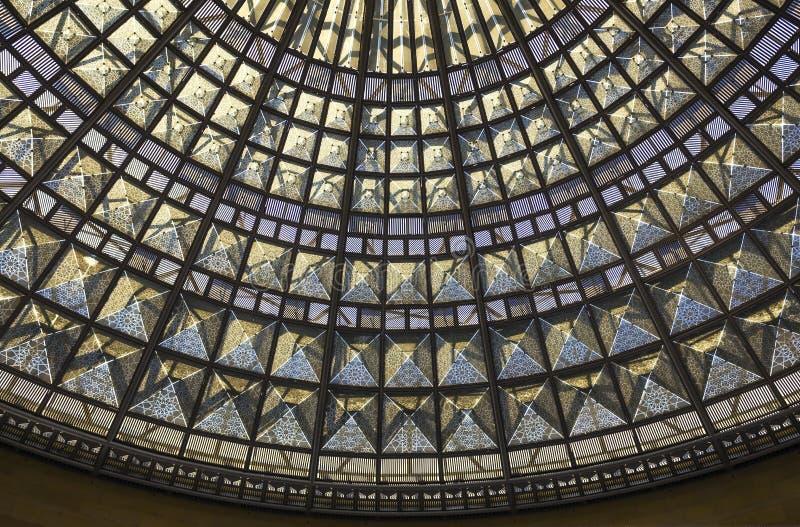 彩色玻璃屋顶 免版税库存照片