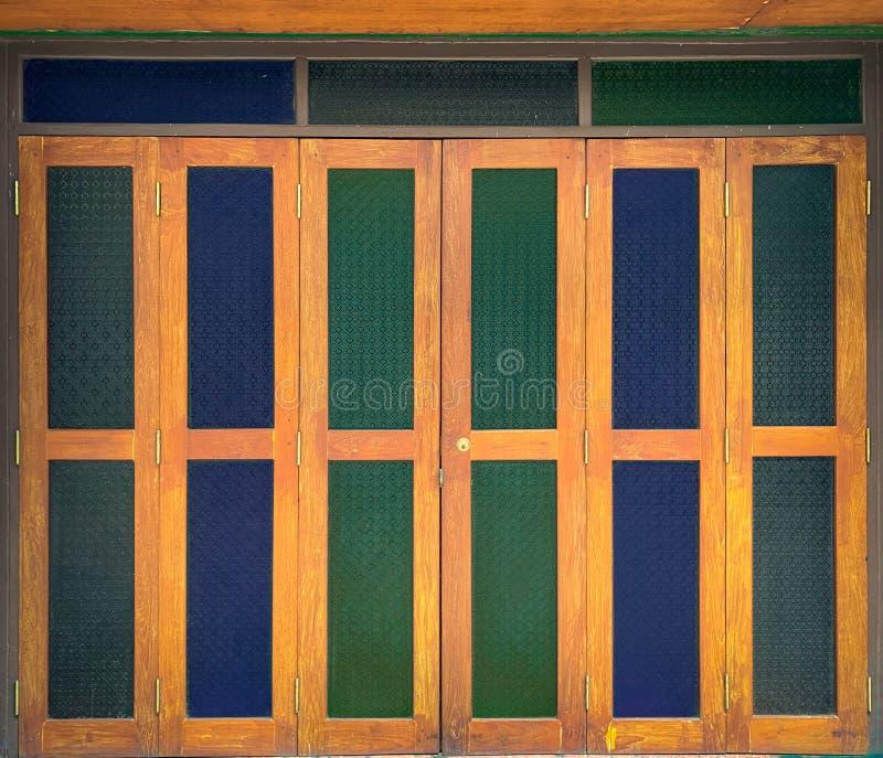 彩色玻璃门 库存照片