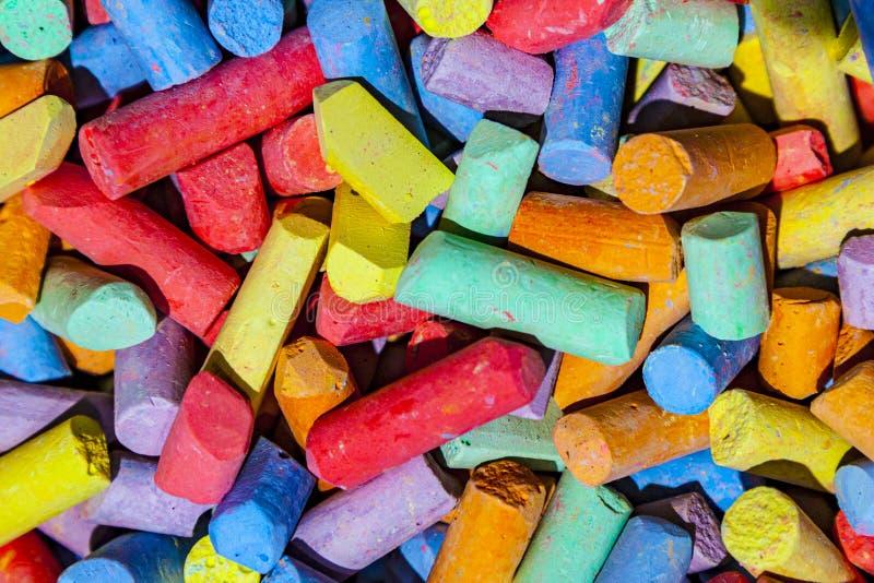 彩色粉笔混合图案 免版税图库摄影