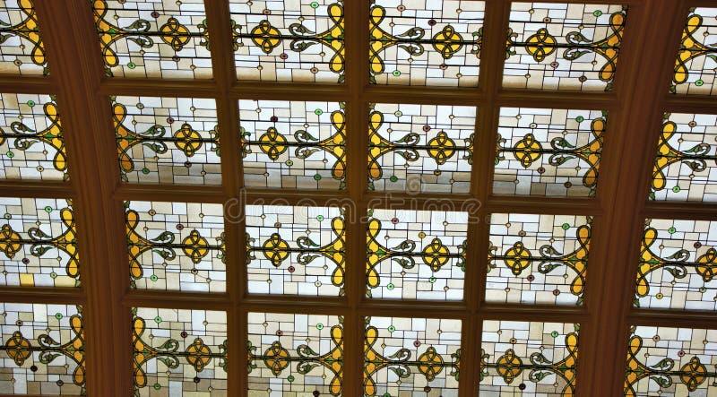 彩色玻璃天窗 免版税库存图片