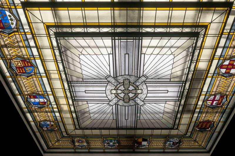彩色玻璃屋顶 免版税库存图片