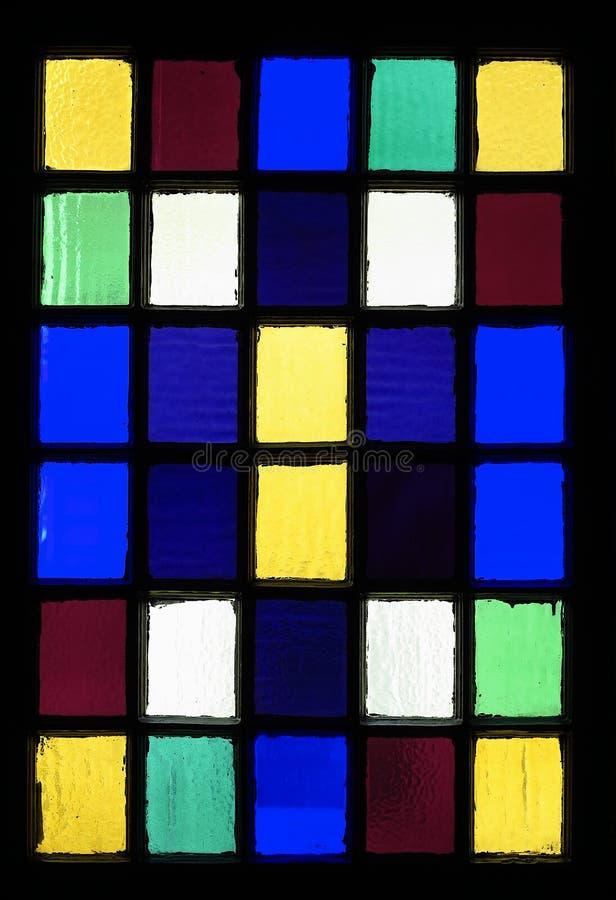 彩色玻璃正方形  库存照片
