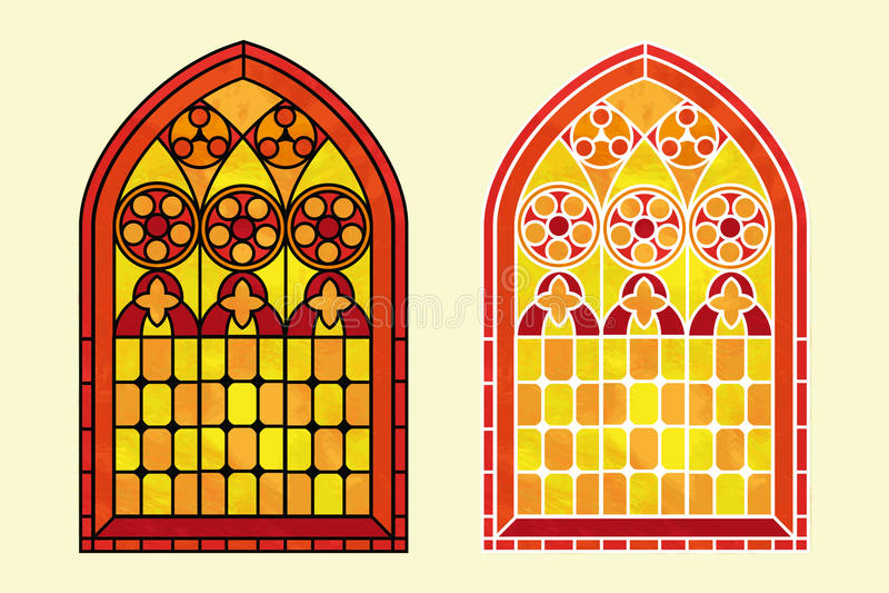 彩色玻璃温暖的口气 皇族释放例证