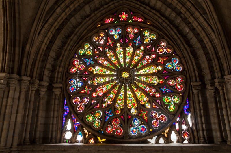 彩色玻璃详细资料 库存照片