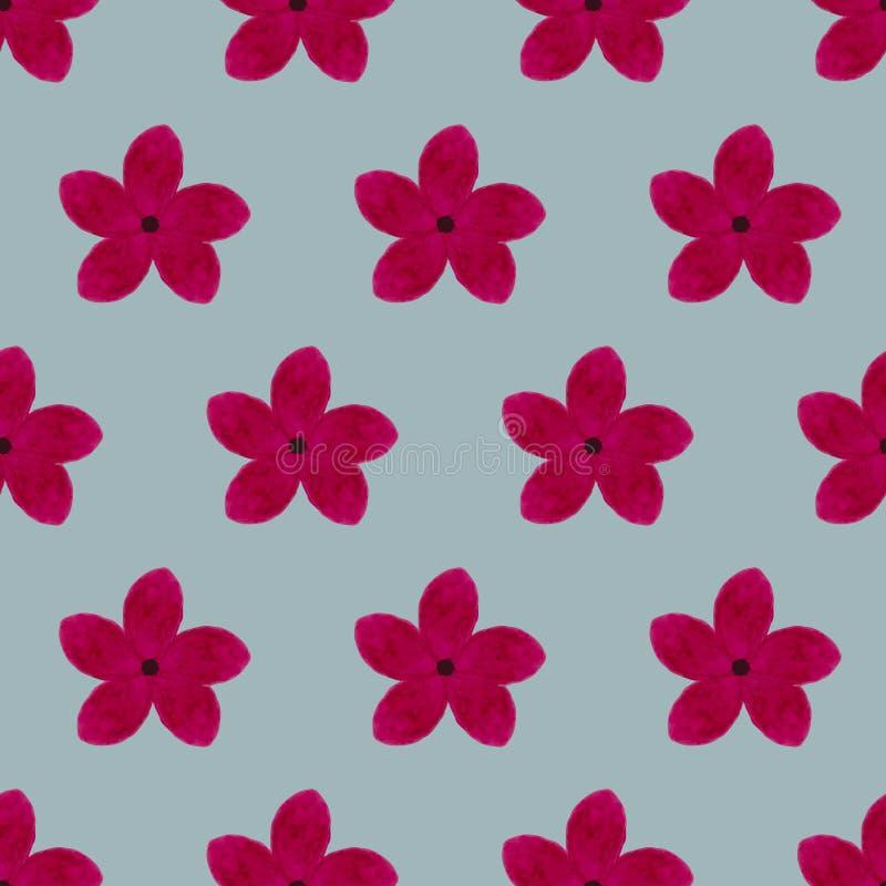 水彩花卉样式 免版税库存照片