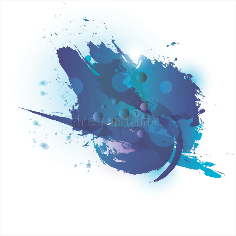 水彩蓝色 设计和样式 免版税库存照片