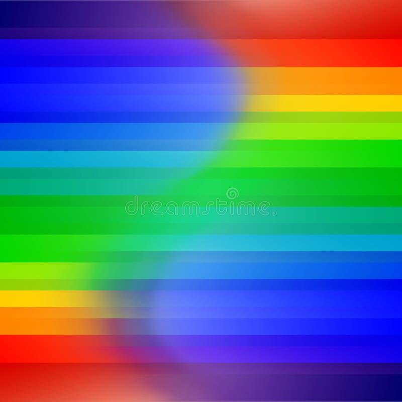 彩虹与条纹的色的抽象背景