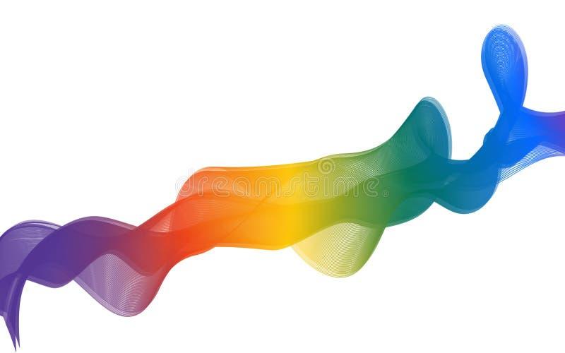 彩虹丝带背景 象丝带传染媒介设计的凉快的薄绢 向量例证