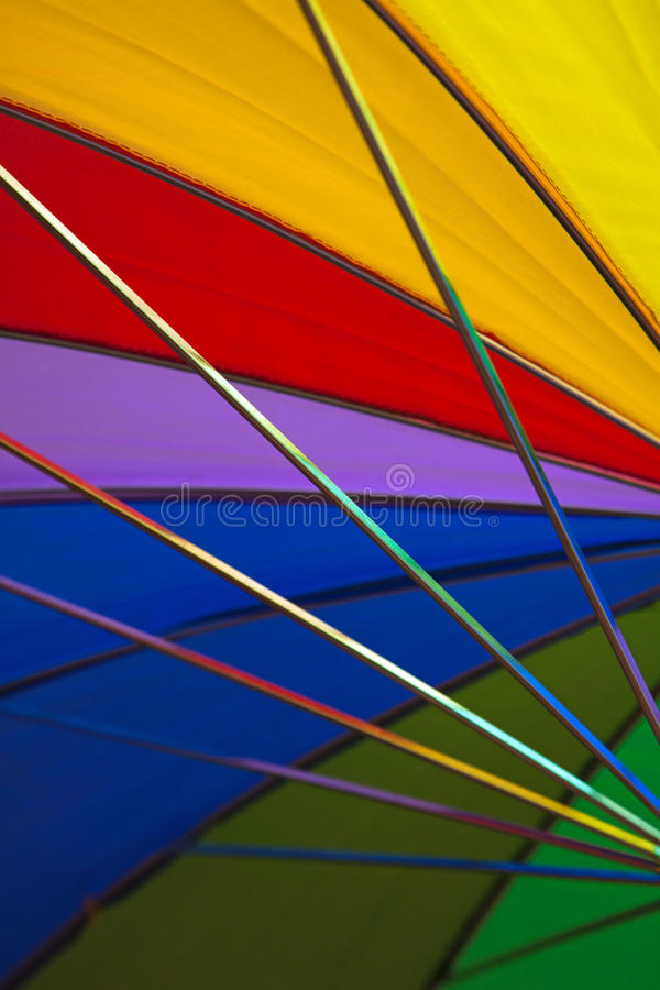 彩虹伞 库存照片