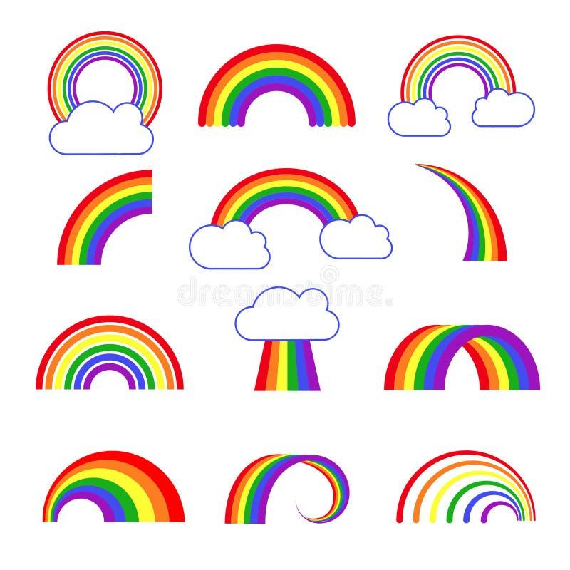 彩虹传染媒介象 库存例证