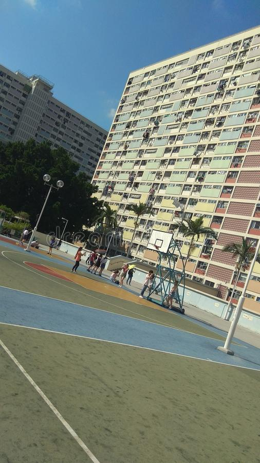 彩虹住房在崔垂悬了庄园,香港 图库摄影