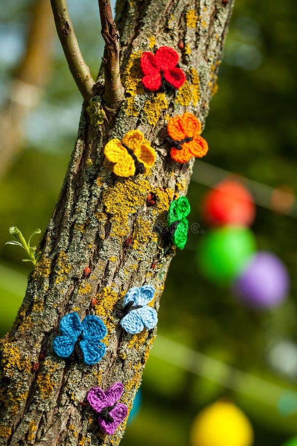 彩虹充满活力的党装饰 免版税图库摄影