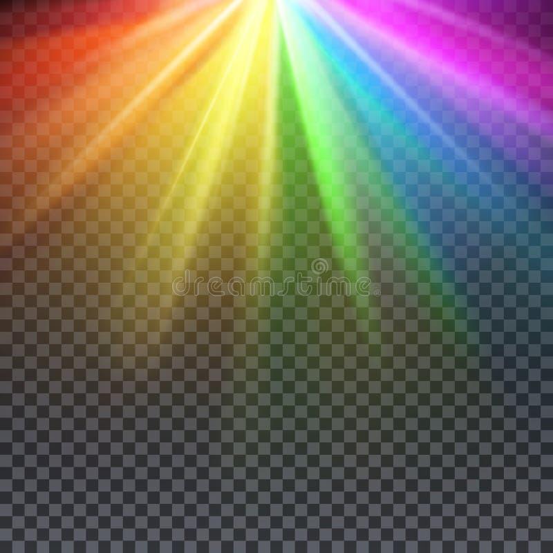 彩虹充满同性恋自豪日的强光光谱上色传染媒介例证 皇族释放例证