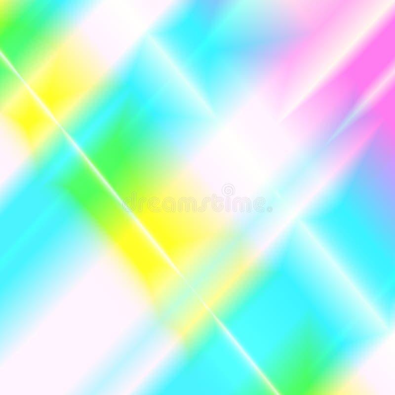 彩虹光柱 全息照相的呈虹彩背景 皇族释放例证