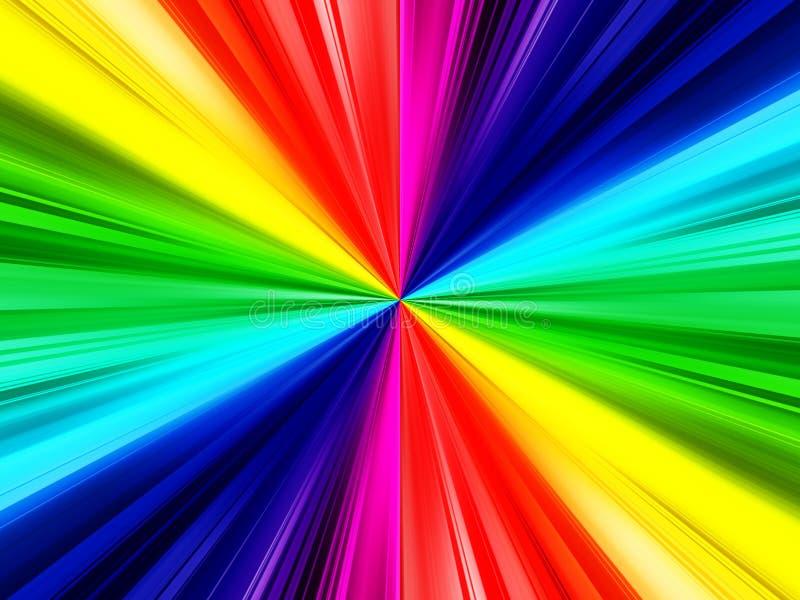 彩虹光芒背景 皇族释放例证