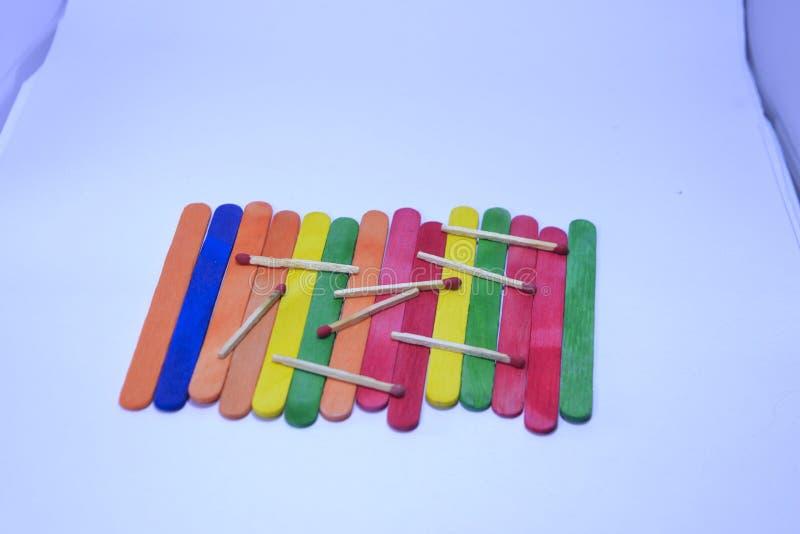 彩虹冰淇凌木五颜六色的列阵 图库摄影