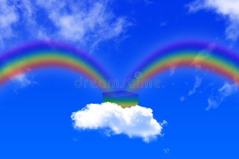 彩虹出生 向量例证