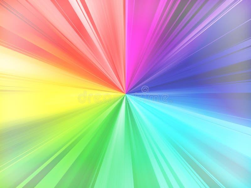 彩虹发出光线背景 向量例证