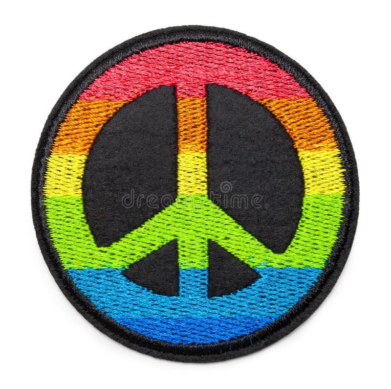 彩虹和平补丁 免版税库存图片