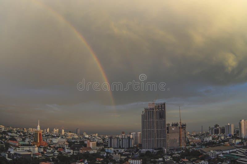 彩虹在曼谷 免版税库存照片
