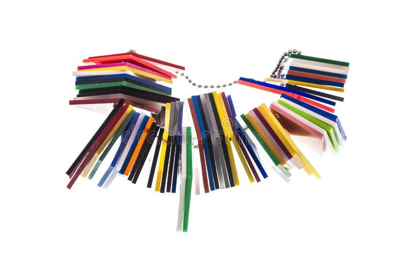 彩虹在白色隔绝的色板显示 免版税库存照片
