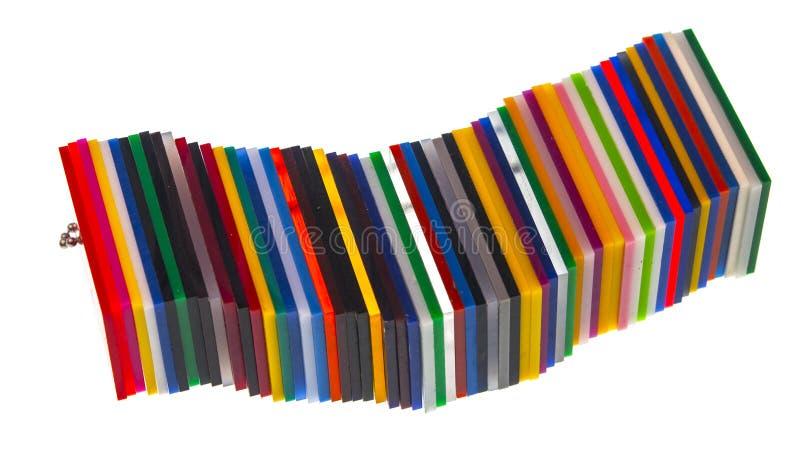彩虹在白色隔绝的色板显示 免版税库存图片